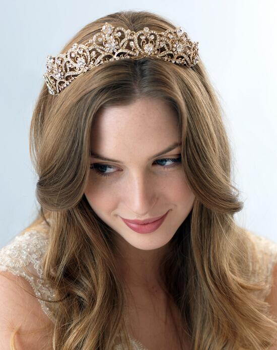 USABride Romance Bridal Gold Crown TI-3173-G Wedding Tiaras photo