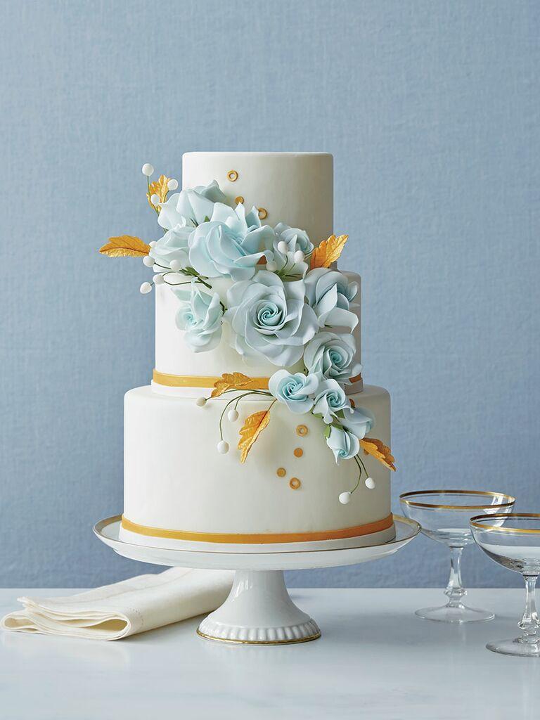 modern 3 tier wedding cake