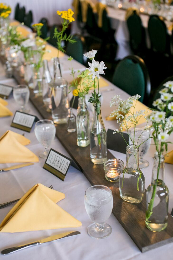 Yellow and White Reception Linens