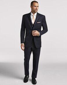 Men's Wearhouse Joseph Abboud Navy Satin Edged Notch Lapel Blue Tuxedo
