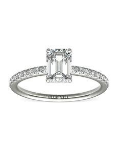 Blue Nile Emerald Cut Engagement Ring