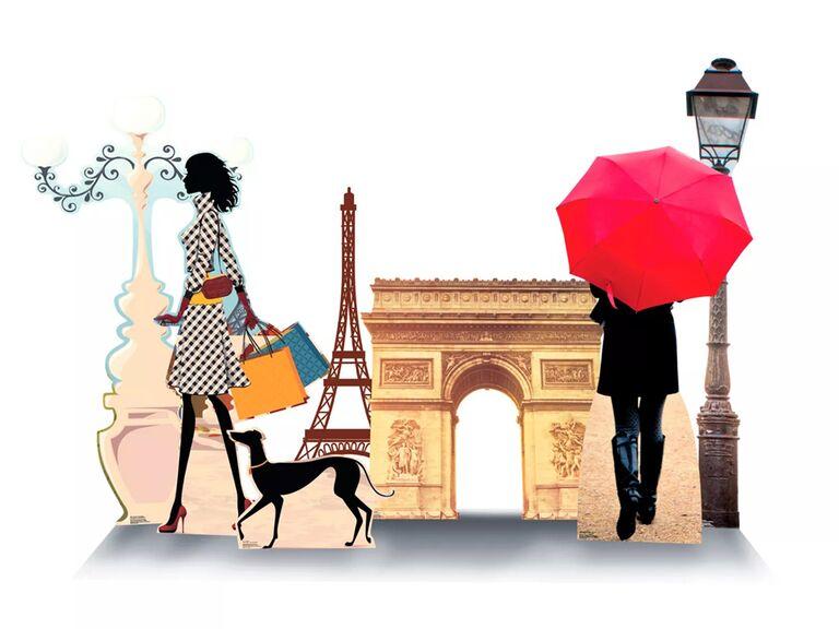 party city paris street scene cardboard cutouts for paris themed bridal shower