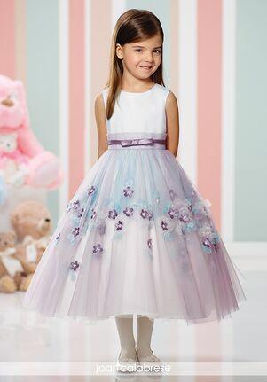 Joan Calabrese by Mon Cheri 216310 Black,Purple,Pink,White Flower Girl Dress