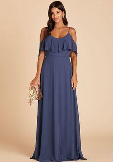 Birdy Grey Jane Convertible Dress in Slate Blue V-Neck Bridesmaid Dress