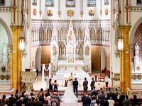 Christian wedding ceremony at chapel