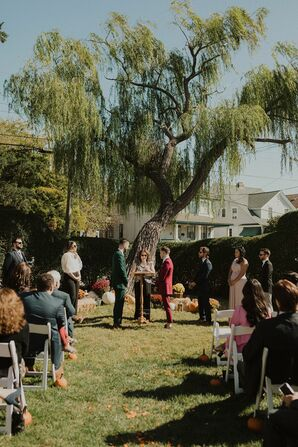 Outdoor Wedding Ceremony at The Chalfonte Hotel in Cape May, New Jersey