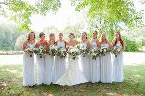 Dessy Frost-Colored Bridesmaid Dresses