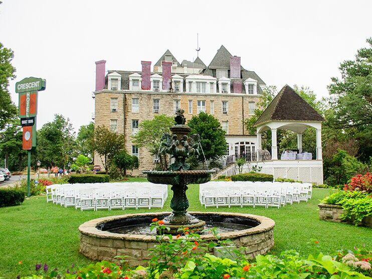 Halloween wedding venue in Eureka Springs, Arkansas.