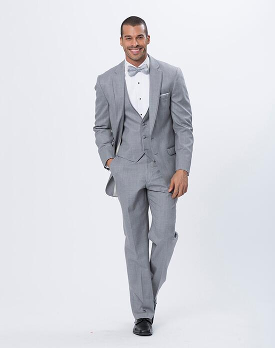 XEDO Allure Men Heather Gray Tux Wedding Tuxedos + Suit photo
