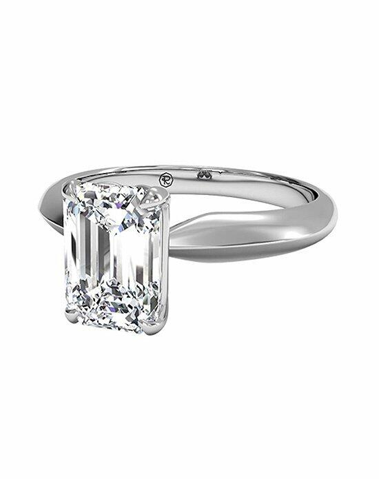 Ritani Emerald Cut Solitaire Diamond Knife-Edge Engagement Ring in Platinum Engagement Ring photo