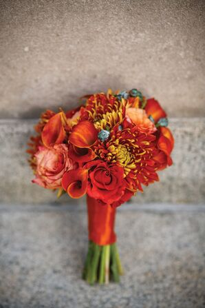 Chrysanthemum Bridesmaid Bouquet