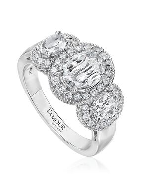 Christopher Designs Glamorous Oval Cut Engagement Ring