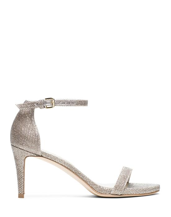 Stuart Weitzman Nunaked Sandal  Platinum Noir Wedding  photo
