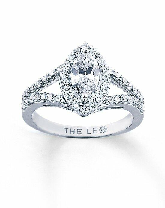 Leo Schachter Diamond Engagement Ring 1ctw Marquise 14K White Gold Engagement Ring photo