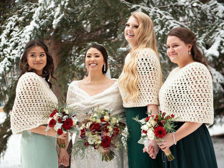 knitted bridesmaid capelet