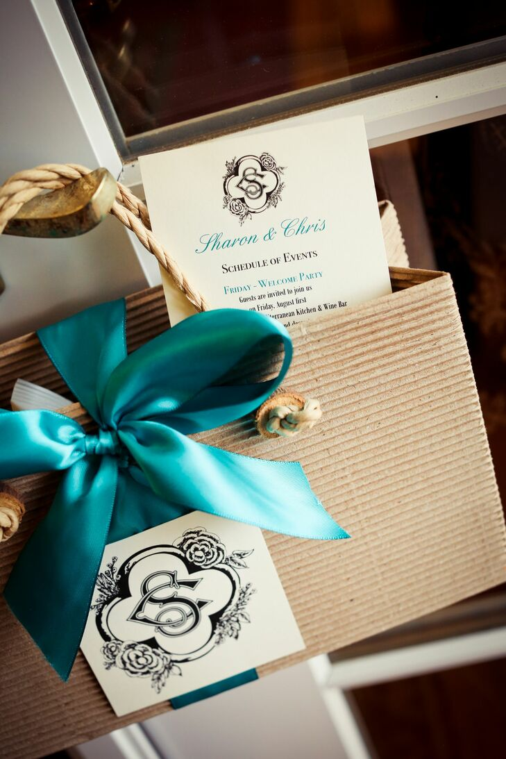 Monogrammed Guest Welcome Bags