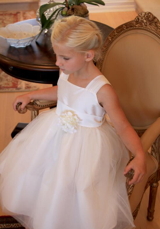 Isabel Garretón Venice V-Back Flower Girl Dress in Ivory Flower Girl Dress photo