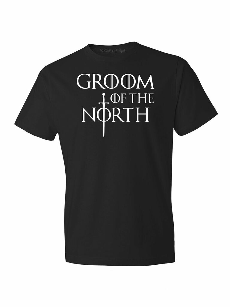black Game of Thrones-themed bachelor party shirt