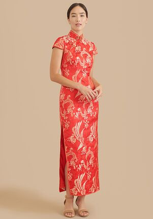 East Meets Dress Gemma Bespoke Dress Sheath Wedding Dress