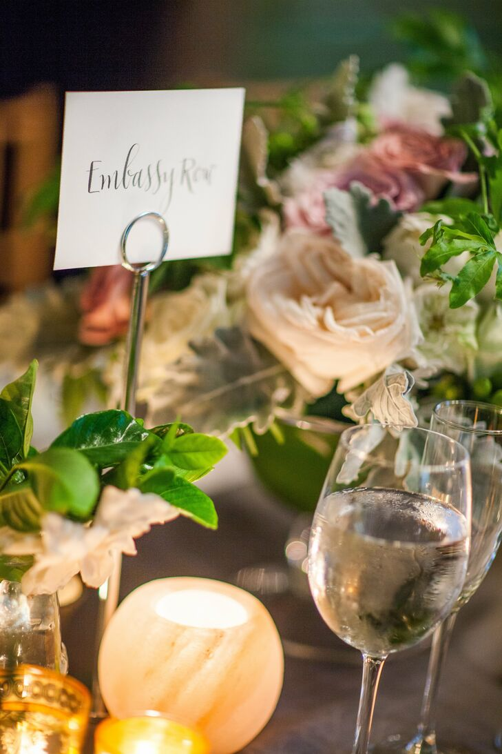 The couple incorporated their mutual love for Washington into their wedding by naming each table after a different DC neighborhood.