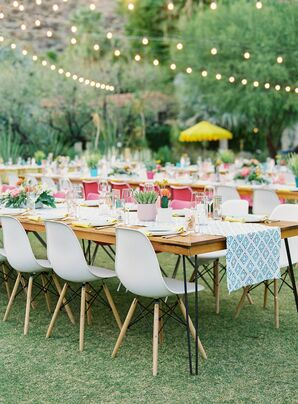 Colorful Reception at Colony 29 in Palm Springs, California