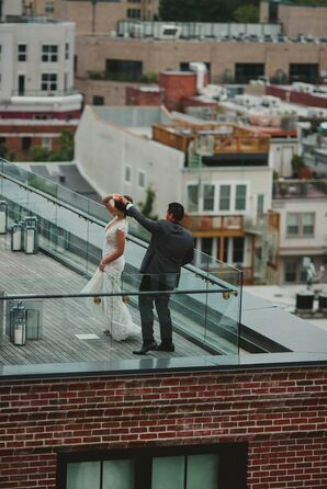 Couple Dancing on Rooftop at The Line Hotel in Washington, DC