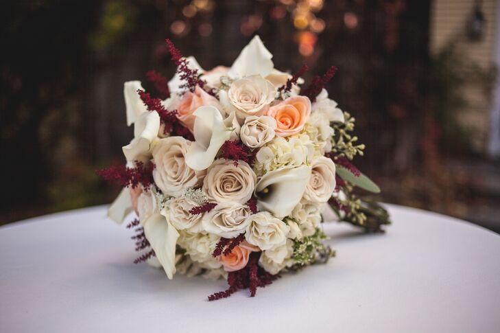 Classic Autumnal Rose and Lily Bouquet