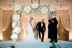 Breaking the Glass During Jewish Wedding Ceremony at The Chicago Art Institute