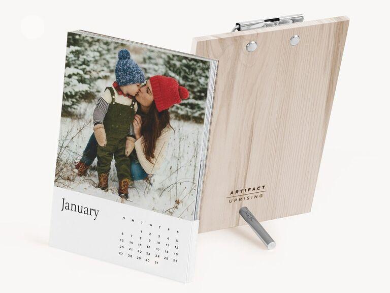 Wooden photo calendar