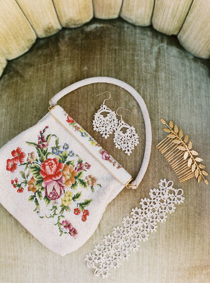 Floral Purse and Wedding Jewelry