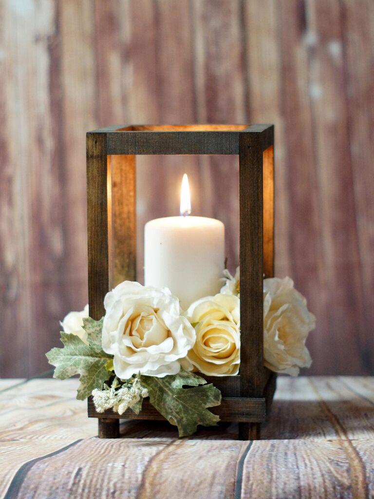 GFT Woodcraft reclaimed wood candle lantern