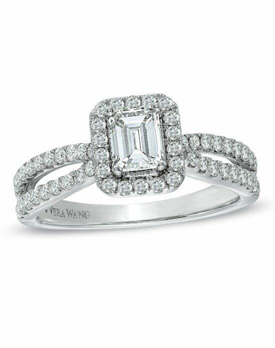 Vera Wang LOVE at Zales Vera Wang LOVE Collection 1 CT T W Emerald Cut Di