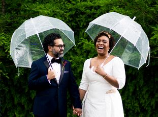 Chelsea Walker (an event planner) and Cecil Freitas's (an engineer) modern and energetic wedding reflected their love of vibrant colors, music and dan