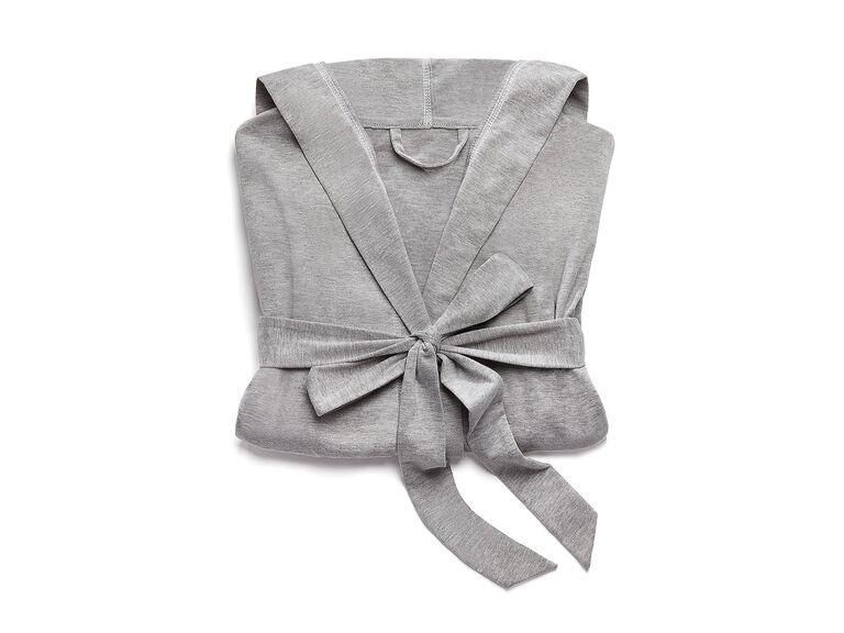 Gray cloth lounge robe