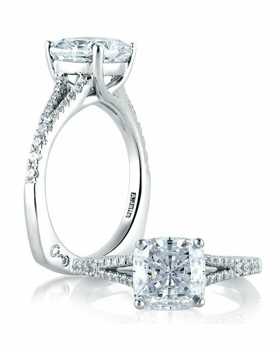 A.JAFFE Classic Crossover Cushion Engagement Ring, MES578 Engagement Ring photo