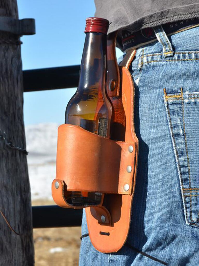 groovy groomsmen gifts holster for bachelor party favors