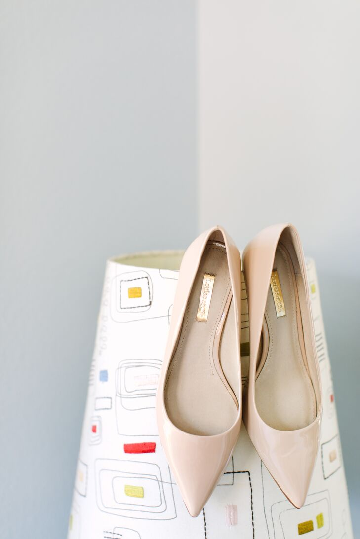 Neutral Leather Flats