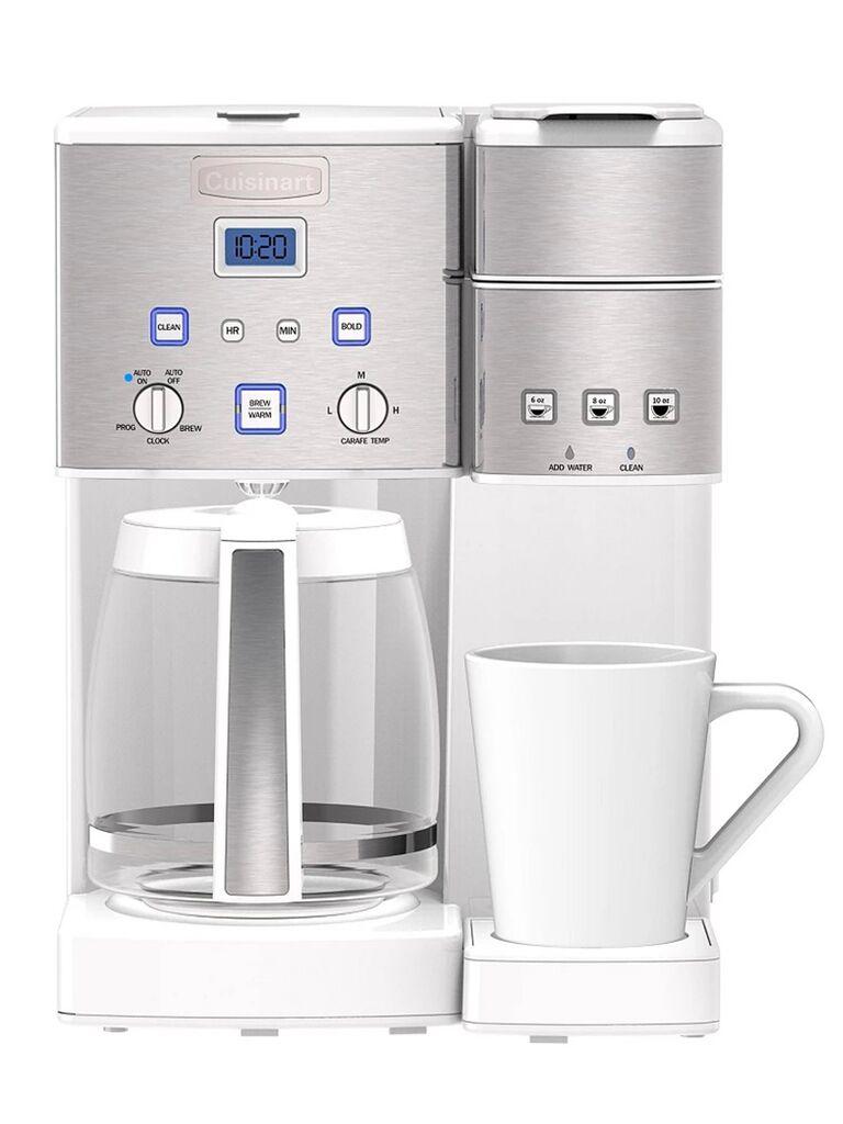 Stainless steel single serve coffee machine with 12 oz pot