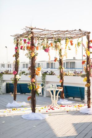 Bohemian Floral Wedding Arbor
