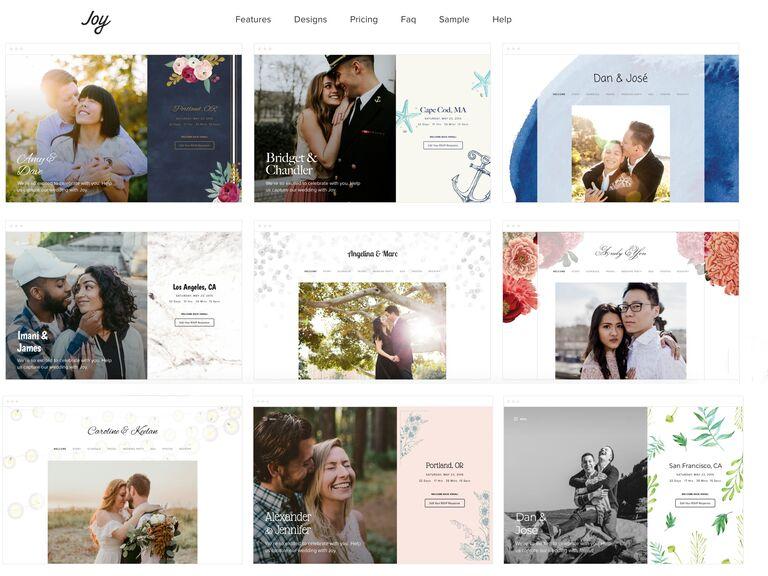 Joy Wedding Website templates