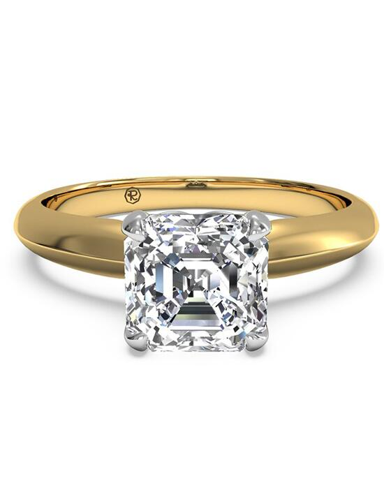 Ritani Solitaire Diamond Knife-Edge Engagement Ring - in 18kt Yellow Gold for a Asscher Center Stone Engagement Ring photo