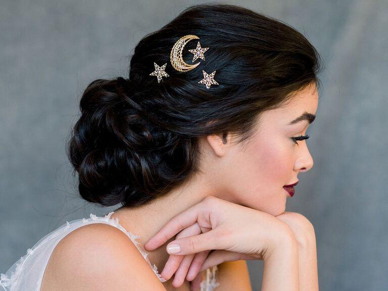 Celestial hair pins