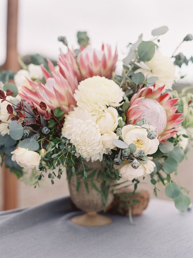 Wedding Centerpieces White and Red