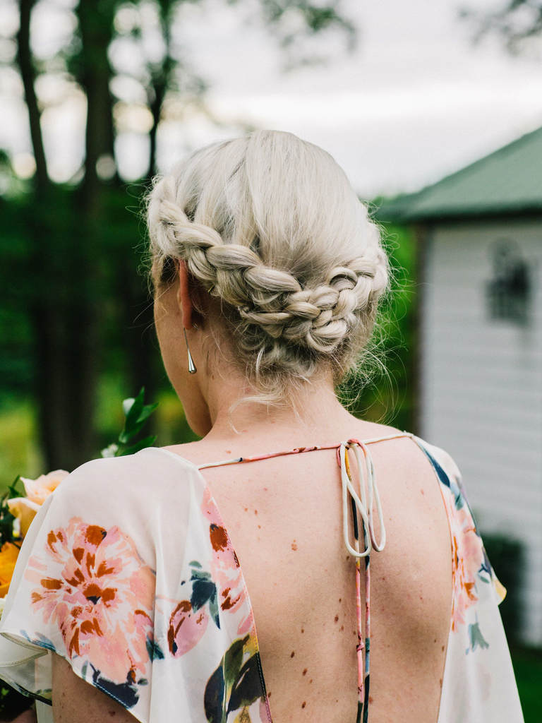 country wedding hairstyles braid crown