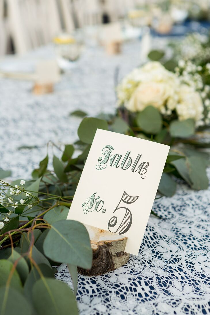 Rustic, DIY Black and Green Table Numbers