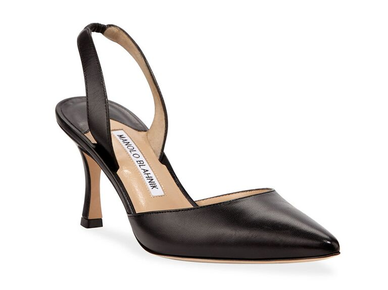 neiman marcus black mother of the groom pumps with pointed toe
