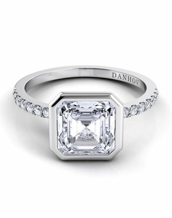 Danhov Per Lei Single Shank Asscher Engagement Ring photo