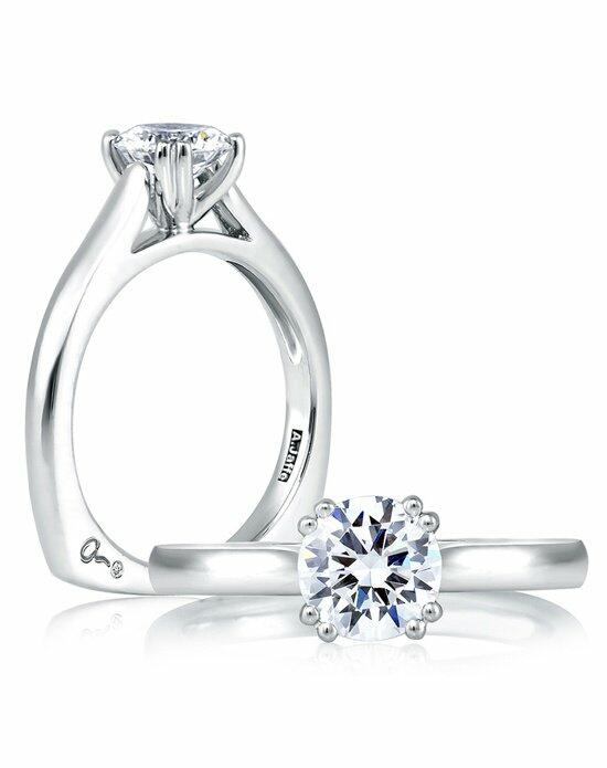 A.JAFFE Simple Classic Double Prong Solitaire Engagement Ring, MES166 Engagement Ring photo