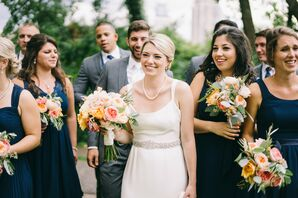 Classic Bridal Style with Pearls, Updo and Jeweled Belt