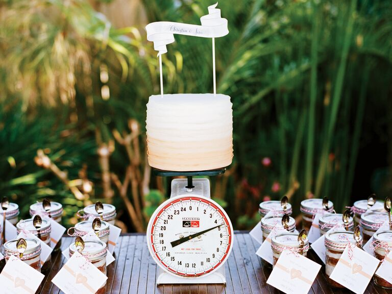 Buttercream ombre bridal shower cake